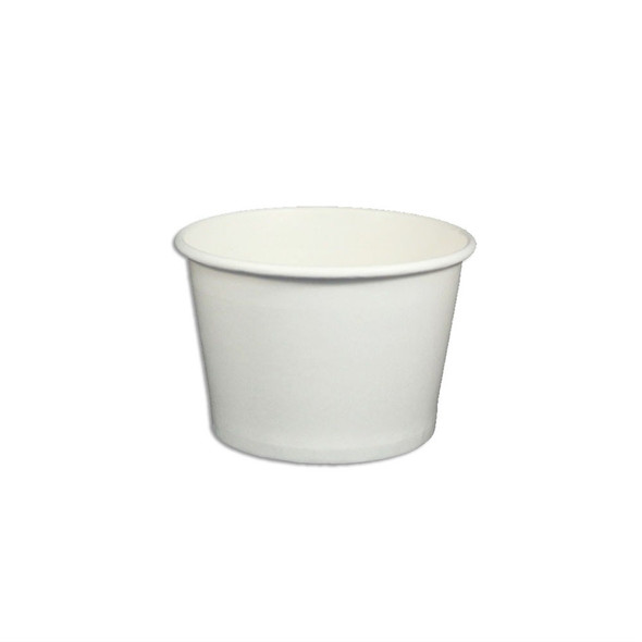 8oz White Ice Cream / Froyo Paper Cups 96mm 1000ct