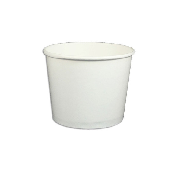 12oz White Ice Cream / Froyo Paper Cups 102mm 1000ct