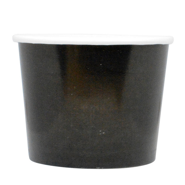 12oz Black Ice Cream Cups - Made In The USA, 1000ct