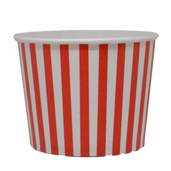 16oz Red Stripes Ice Cream Cups - Made In The USA