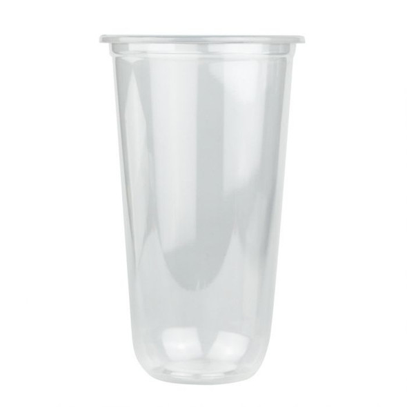 Q Cup 22oz Clear Round PP Plastic Cup (95mm) - 1 case (1000 piece)