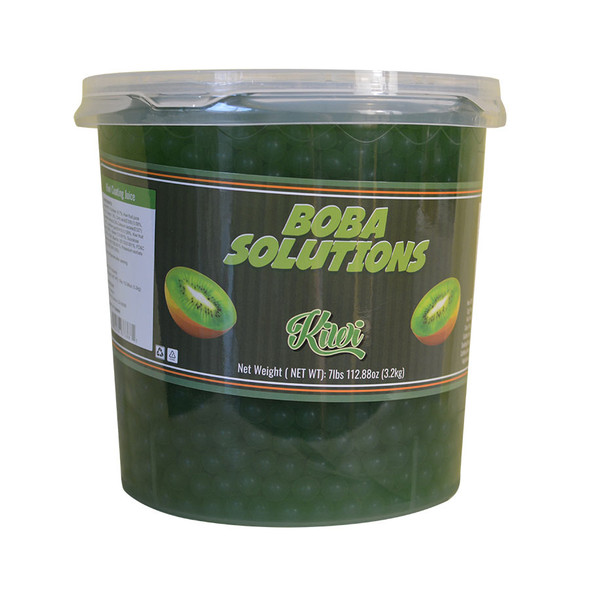 Boba Solutions Popping Boba - Kiwi Flavor, Case Of 4