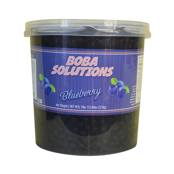 Boba Solutions Popping Boba - Blueberry Flavor, Case Of 4