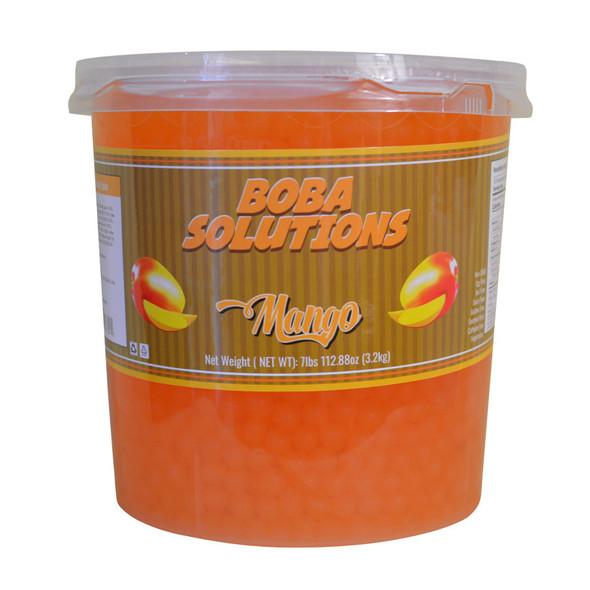 Boba Solutions Popping Boba - Mango Flavor, Case Of 4