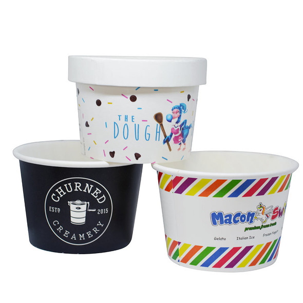 Frozen Solutions 8oz Custom Printed Cups - Made Overseas