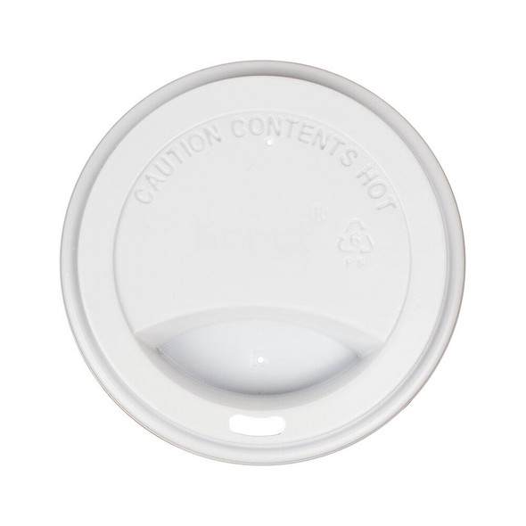 10-24oz Hot Sipper Dome Lids 90mm - White 1000ct - Frozen Solutions