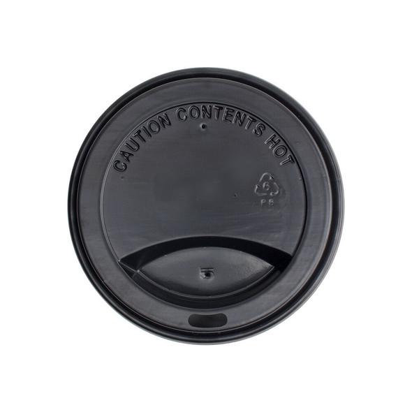 10-24oz Hot Sipper Dome Lids 90mm - Black 1000ct - Frozen Solutions