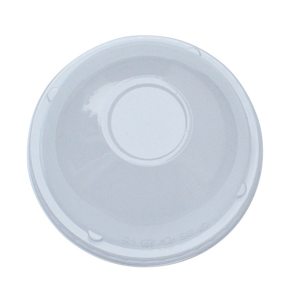 Frozen Solutions 95mm Rim PET Food Container Dome Lid No Hole 1000ct
