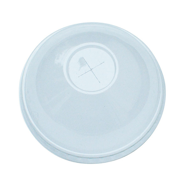 Frozen Solutions 90mm Rim PET Food Container Dome Lid w/Straw Hole 1000ct