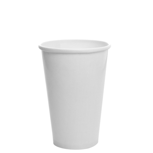 16oz Cold Paper Drink Cup White 510cc