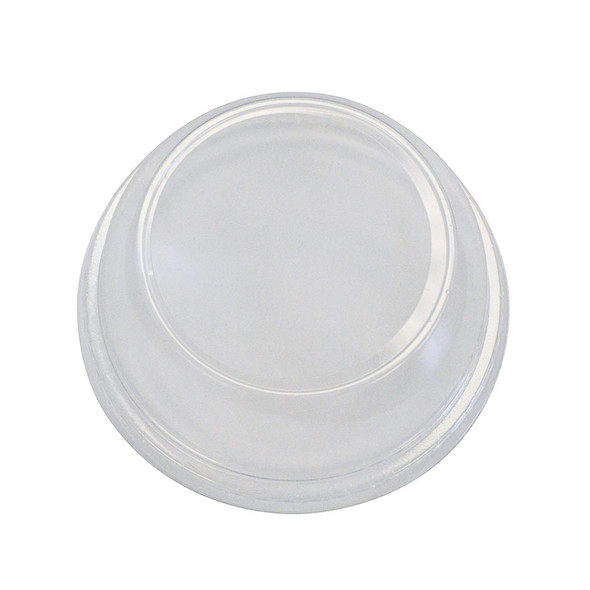 """12-24oz 98mm PET DOME Lid with 2"""" Hole - 1000ct"""