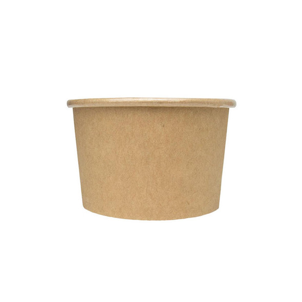 Frozen Solutions 3oz Kraft Compostable Ice Cream Cup 1000ct