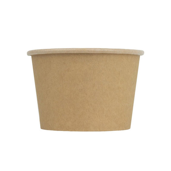 Frozen Solutions 8oz Kraft Ice Cream Cup 1000ct 95mm