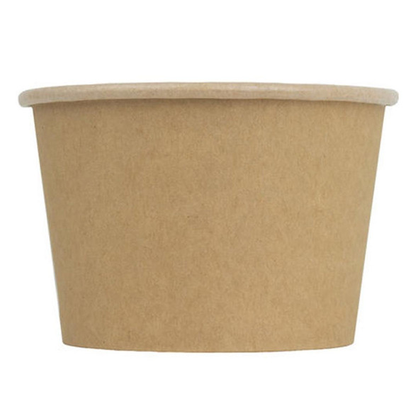 Frozen Solutions 20oz Kraft Compostable Ice Cream Cup 1000ct