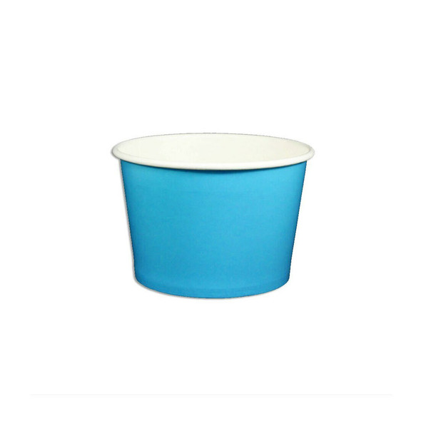 8oz Ice Cream/Froyo Cups 96mm 1000ct Blue