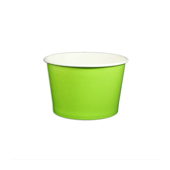 8oz Ice Cream/Froyo Cups 96mm 1000ct Green