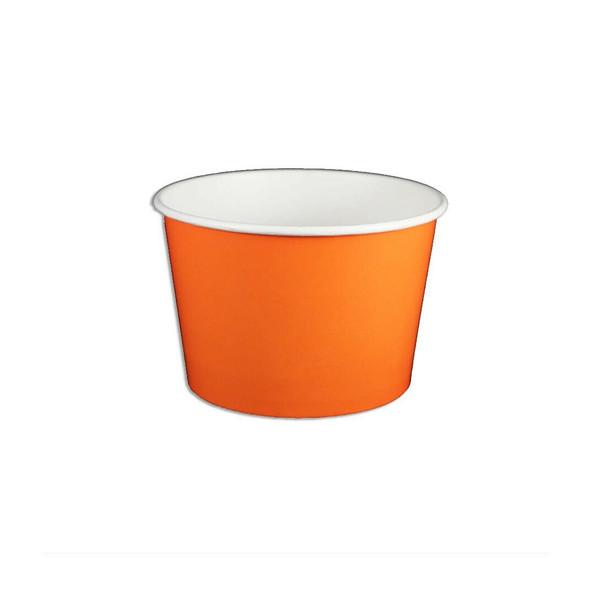 8oz Ice Cream/Froyo Cups 96mm 1000ct Orange