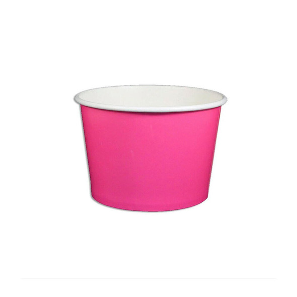 8oz Ice Cream/Froyo Cups 96mm 1000ct Pink