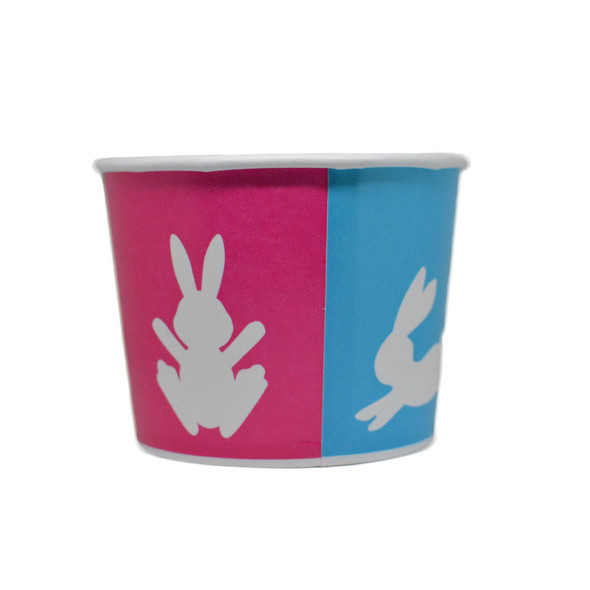 Bunny 16oz Ice Cream / Froyo Paper Cups 112mm 1000ct - Easter & Spring