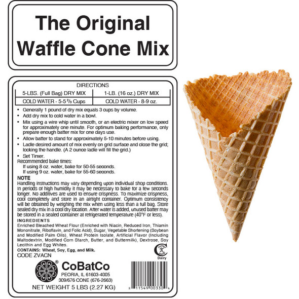 CoBatCo The Original Waffle Cone Mix 30 lb. Box