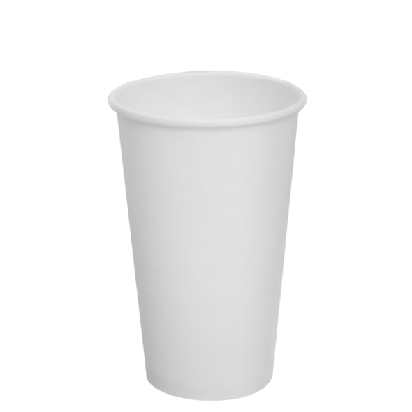16oz Paper Hot Cups - White 90mm 1000ct
