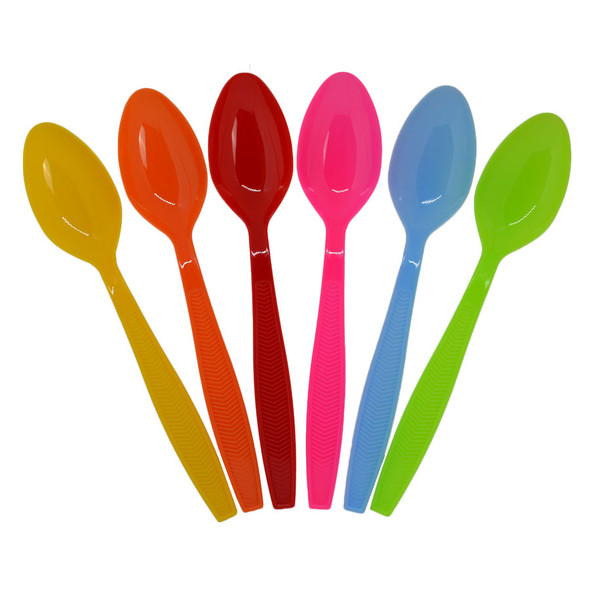 Tea Spoon Medium Weight Polystyrene - Multi Colored, 1000ct