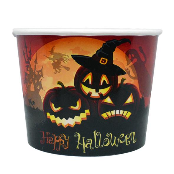 Halloween 16oz Ice Cream / Froyo Paper Cups 112mm 1000ct