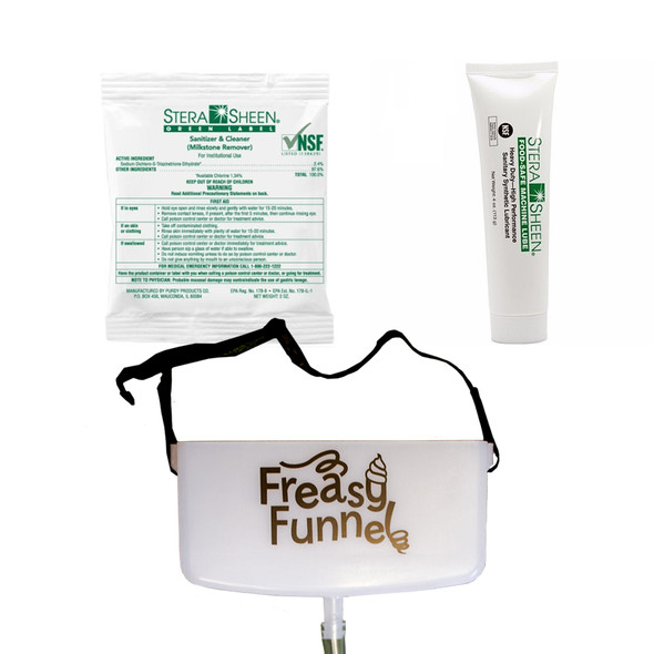 Freasy Funnel Froyo Machine Cleaning Helper Bundle