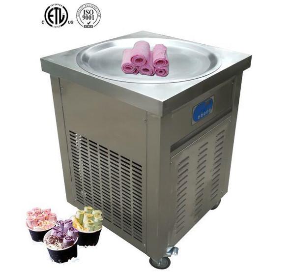 "Thai ""Stir Fry"" Ice Cream Roll Cold Surface Machine Round Pan"