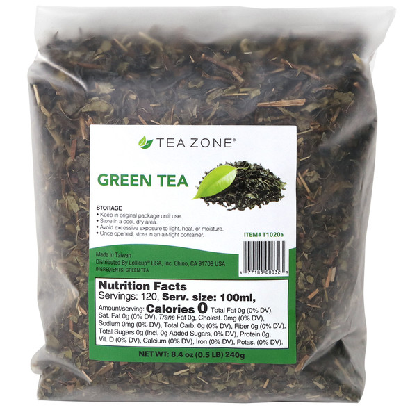 TeaZone Green Tea Leaves - Case
