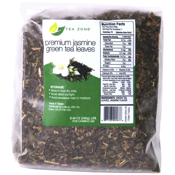 TeaZone Premium Jasmine Green Tea Leaves - Case