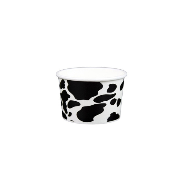 4oz Dairy Cow Print Ice Cream/Froyo Cups 76mm 1000ct