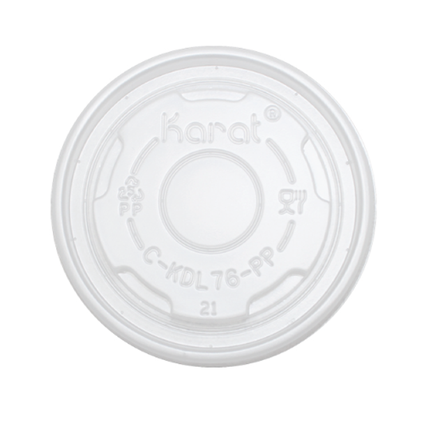 76mm Rim PP Food Container Flat Lid No Hole 1000ct