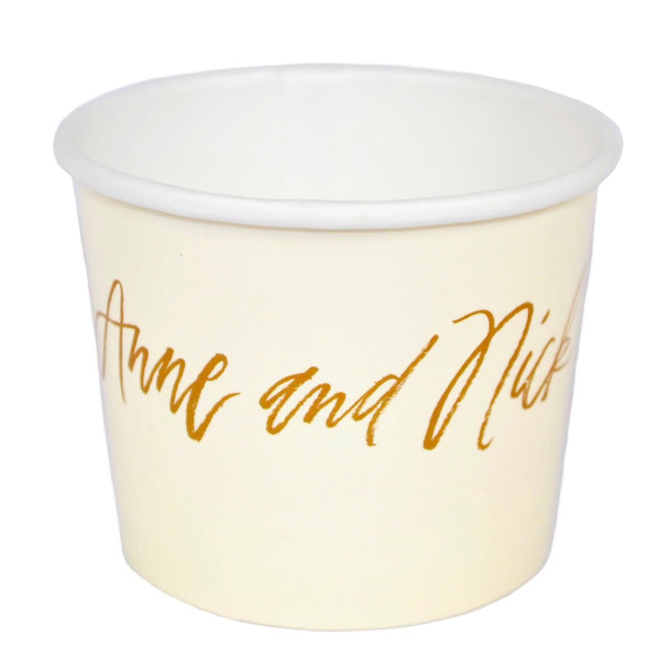 1 or 2 Color Custom Cold Paper Containers