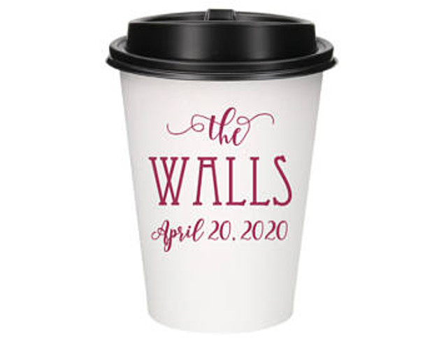 1 or 2 Color Custom Hot Paper Cups