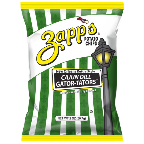 Zapp's Kettle Potato Chip ,Cajun Dill Gatortators (2 pack) 2.625oz.