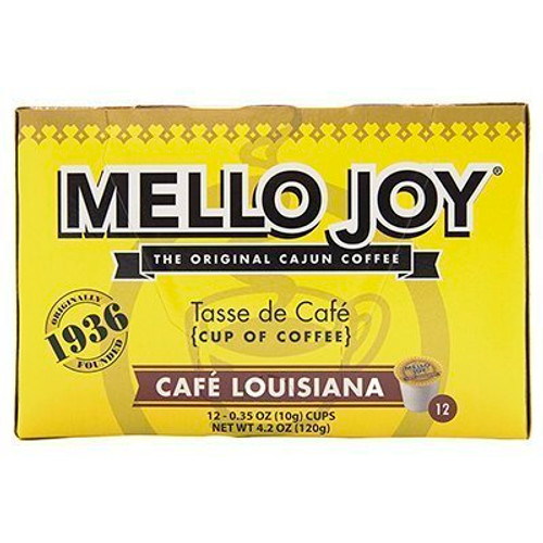 Mello Joy Cafe Louisiana Coffee Single Serve Cups, Box of 12