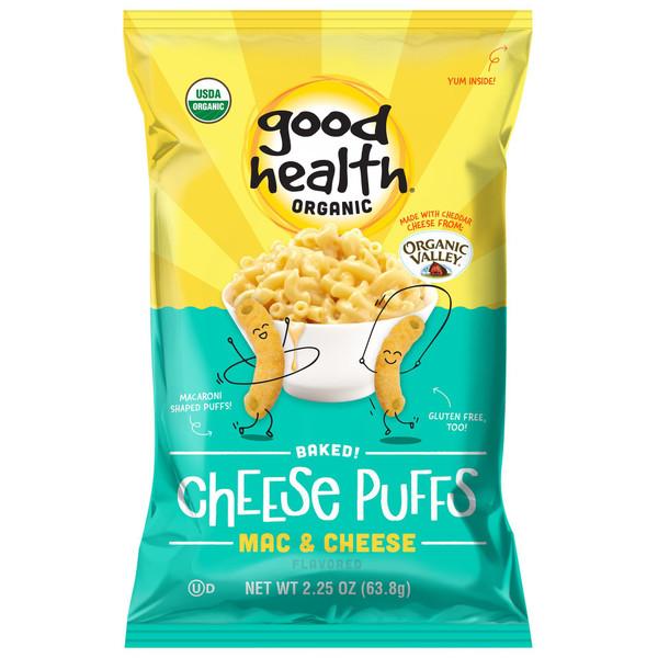 Good Health® Organic Baked Puffs, Mac & Cheese ( 2 pack ) 2.25oz.