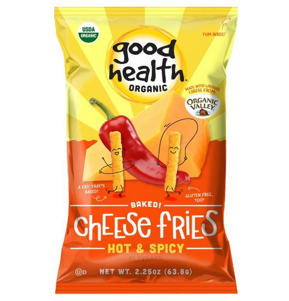 Good Health® Organic Baked Cheese Fries, Hot & Spicy (2pack ) 2.25oz.