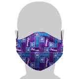 Orlando Pride Tile Logo Face Mask