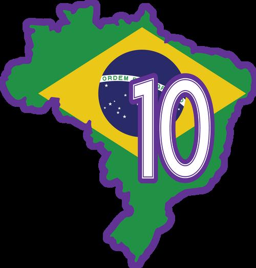 MARTA #10 Brazil Patch