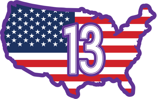 MORGAN #13 USA Patch