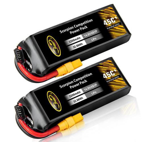 2200mAh 45C 14.8V 4S Lipo Battery