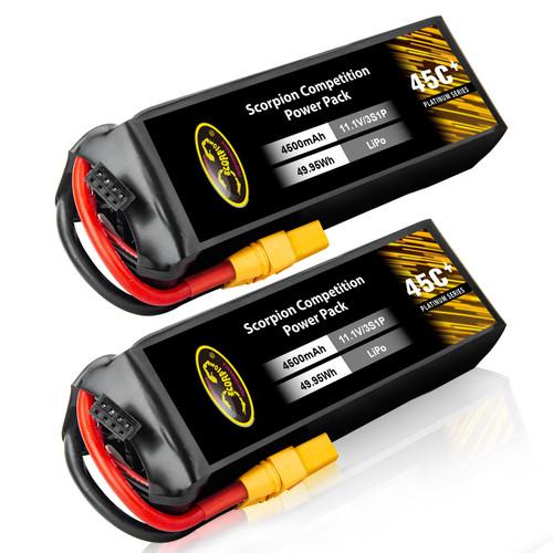 4500mAh 45C 11.1V 3S lipo battery