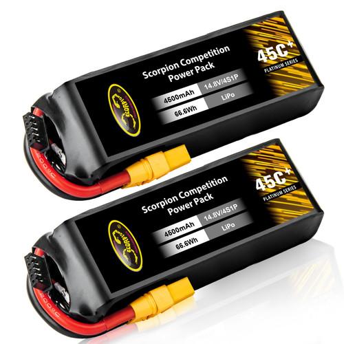 4500mAh 45C 14.8V lipo battery