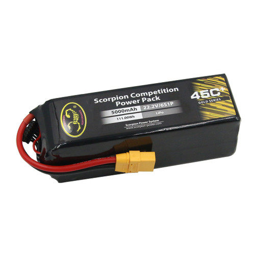 Scorpion Power 5000mAh 45C 22.2V 6S with XT90