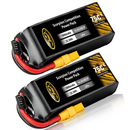 1500mAh 75C 14.8V lipo battery
