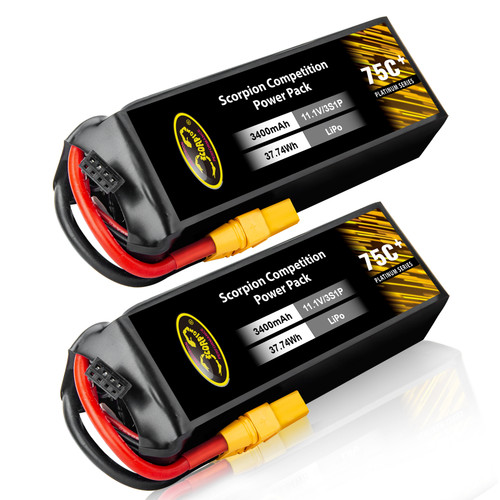 3400mAh 75C helicopter lipo battery