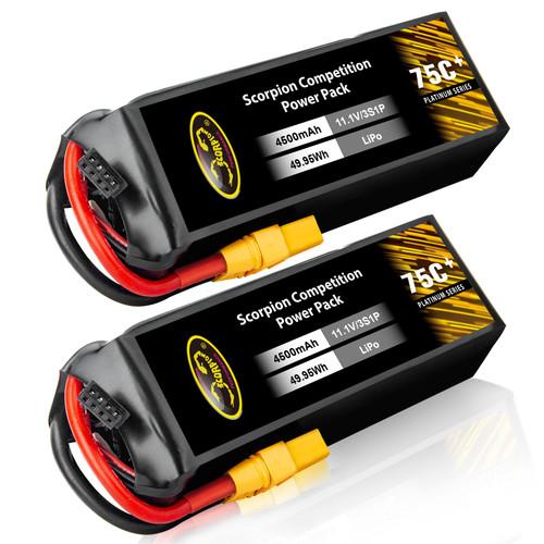 4500mAh Scorpion lipo battery