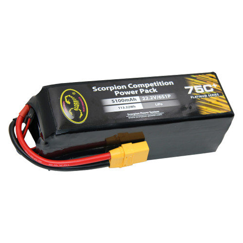 Scorpion Power 5100mAh 75C 22.2V 6S with XT90